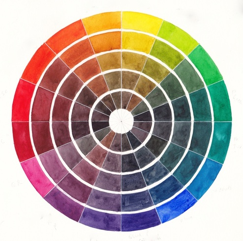16 Segment Colour Wheel Created Using Just 8 Colours