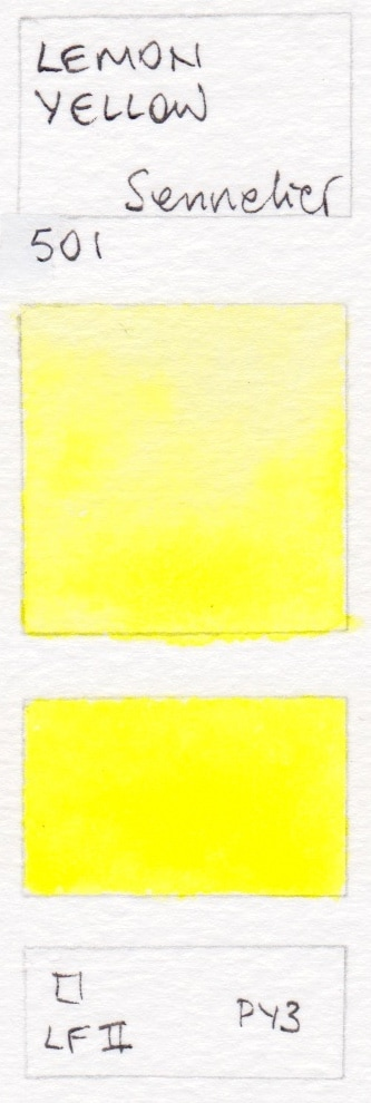 Yellow Watercolour Swatches Jane Blundell Artist