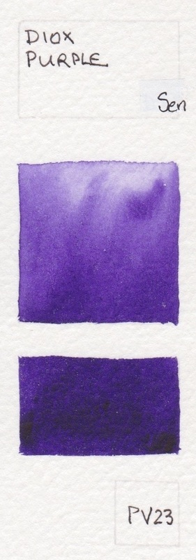 Purple Watercolour Swatches Jane Blundell Artist