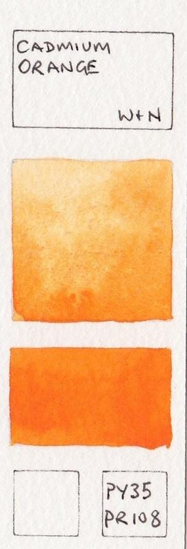 Orange Watercolour Swatches Jane Blundell Artist